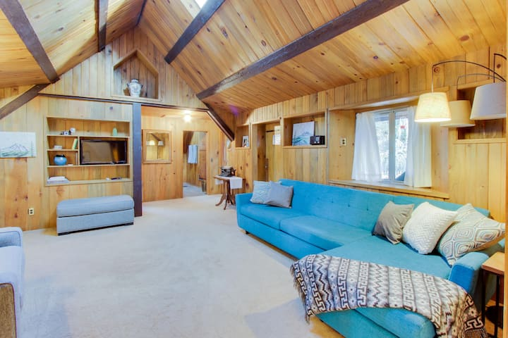 Dog-friendly cabin w/ private hot tub & chef's kitchen in a secluded setting!