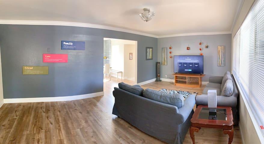 Big Spacious House 6 BR /2 BA Cozy Fremont Mission