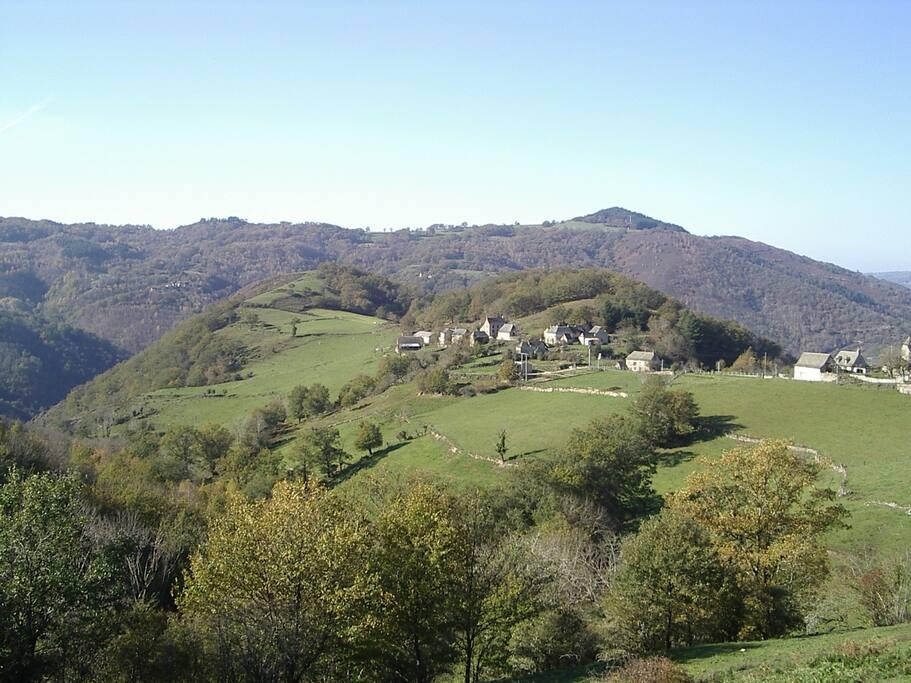 Le hameau est situé dans un site magnifique