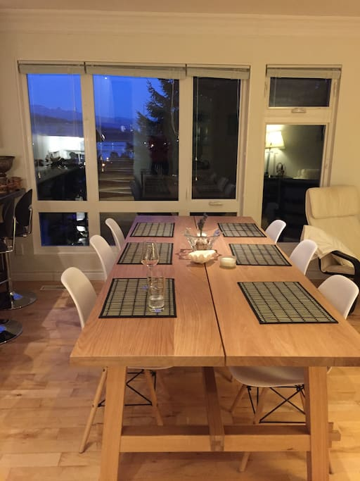 Large table fits many guests