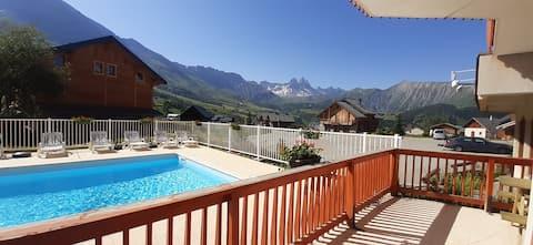Appartement en résidence avec piscine chauffée