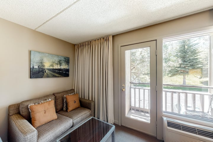 Ski-in/out, budget-friendly room w/ WiFi, valley view & shared hot tub and pool!