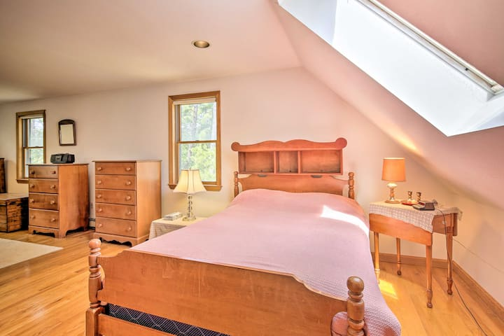 Claim the full bed as your own in this spacious room.
