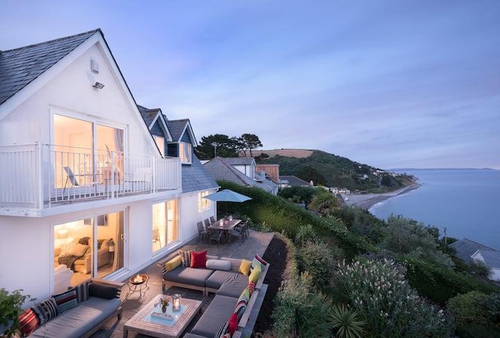 Unique beach house with sea views. Sleeps 8