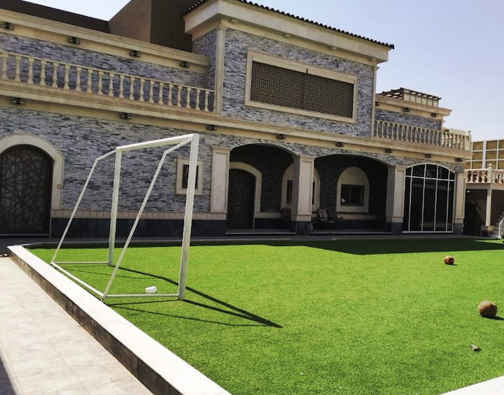 Luxury villa with bedrooms and halls for events