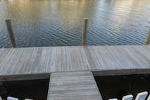 Boat dock in rear of house included in rental