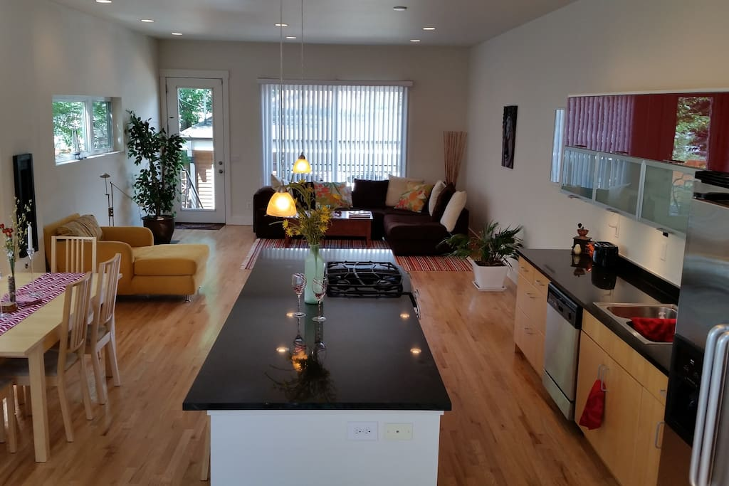 Main living area is great for hanging out and entertaining