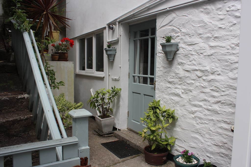 The property is a self-contained attached annexe at the rear of the our Victorian house.