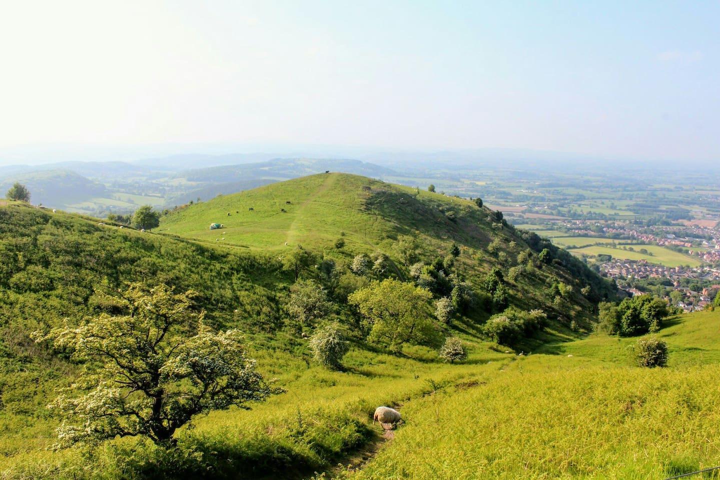 Beautiful Malvern Hills from North Hill