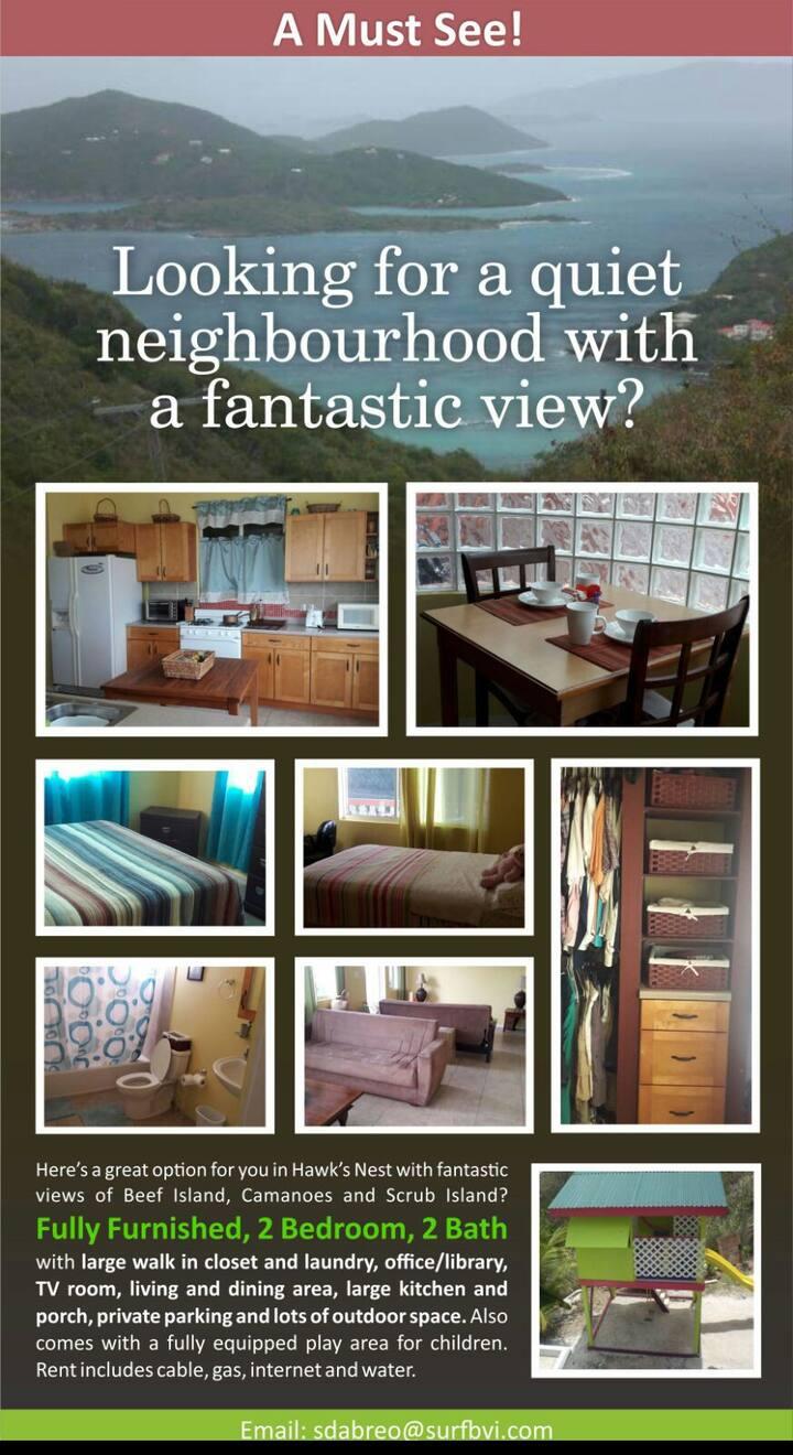 Apartment located in tranquil Hawks Nest, Tortola