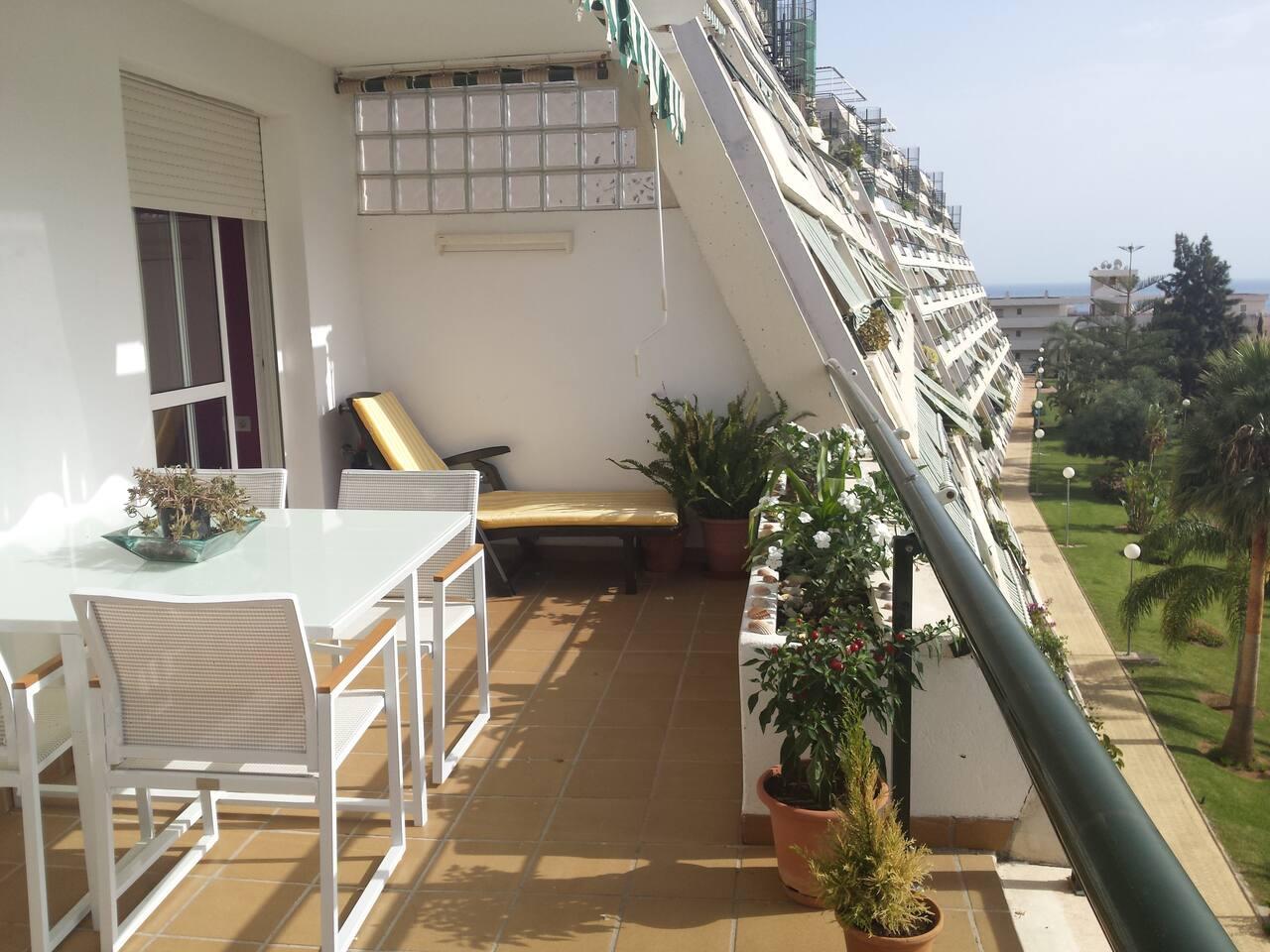 Terraza de 20 metros ideal para tomar el sol