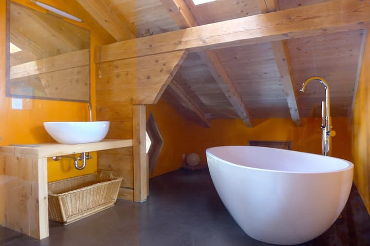 Loft in the heart of the Swiss Alps (90m2) +more..