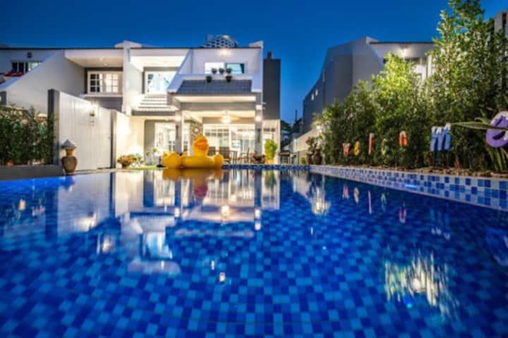 ❤️芭提雅海滨象神2号别墅  Pattya Thai Earawan pool villa  no 2
