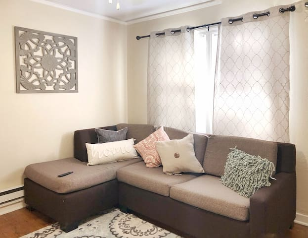 Cozy Living Area with Pull Out Sofa