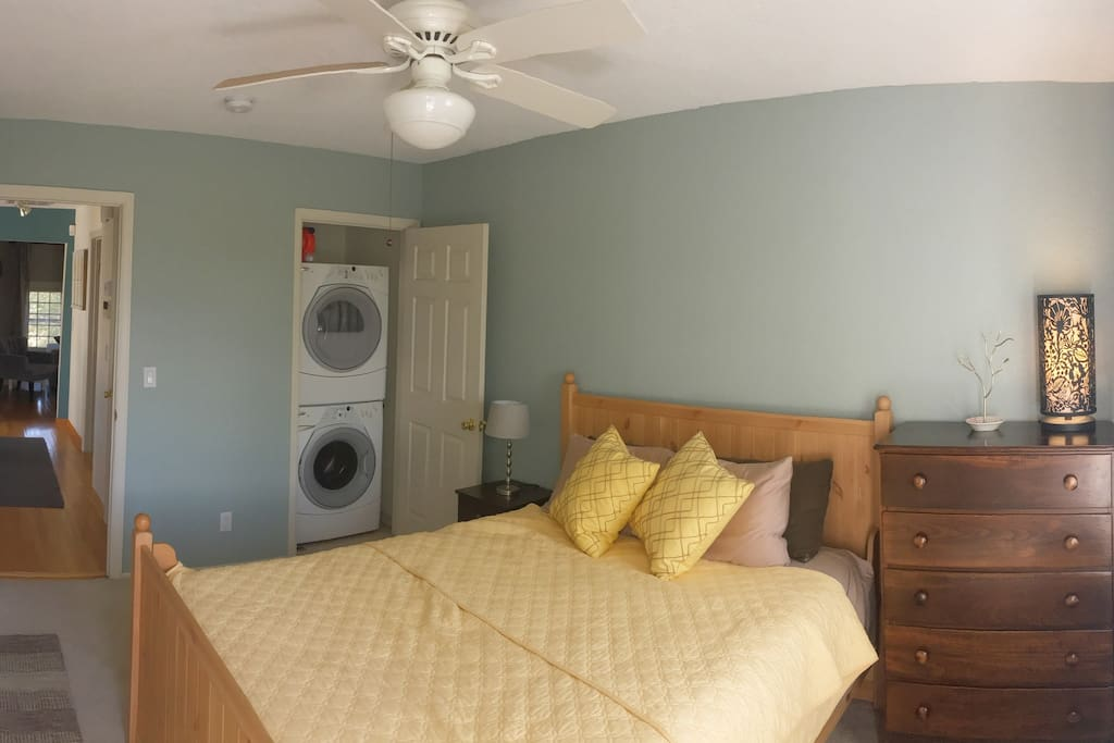 Private Bedroom with laundry