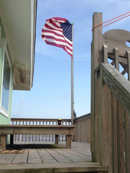 West side deck