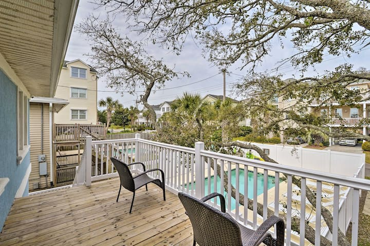 NEW! Duplex w/Pool Access- 100 ft to Crescent Beach