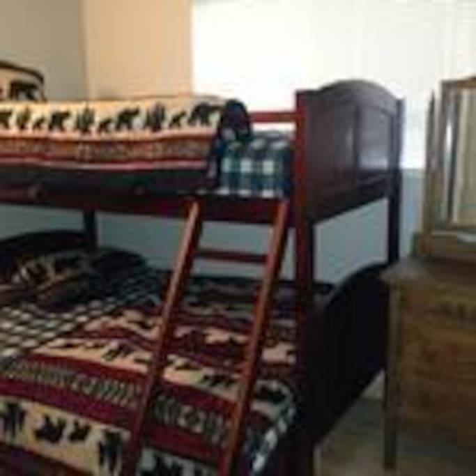 Bunk beds for the kids -full on bottom, twin on top