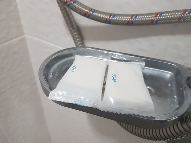 bars of soap in each room