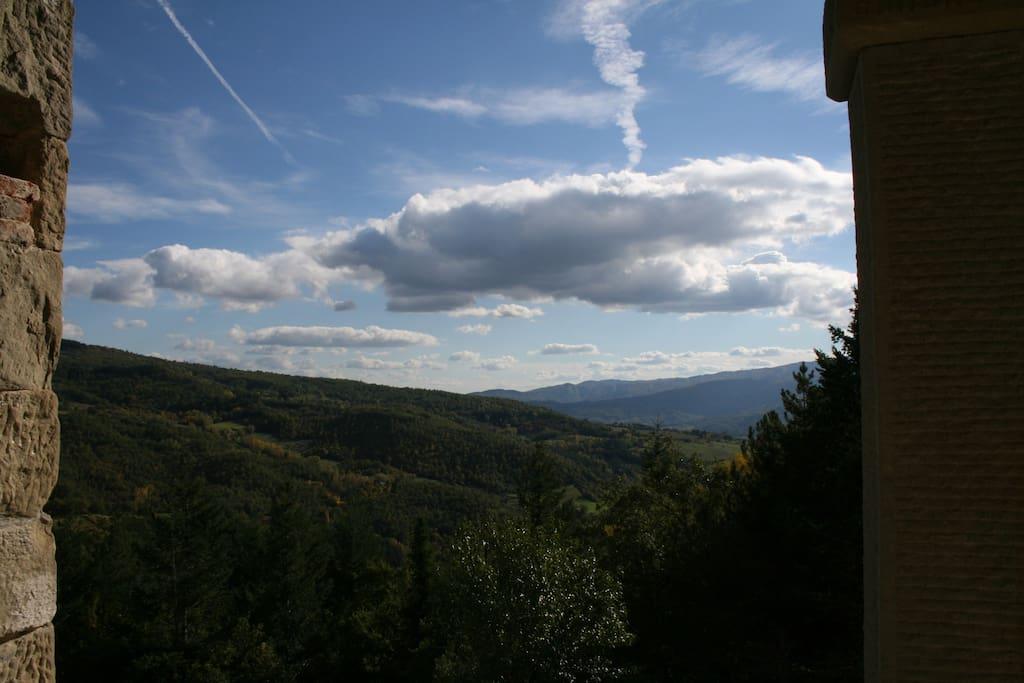 Panorama dalla finestra di cucina