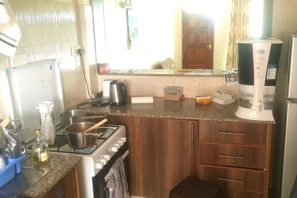 Equipped Kitchen, and authentic Kenyan  meals can fixed on request.