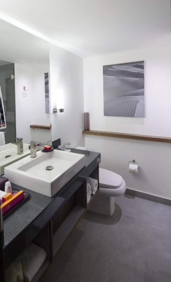 Modest Room Club Double Bed At Hermosillo