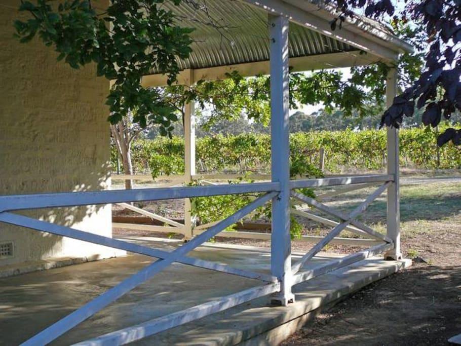 Veranda view of Sweet Briar Vineyards