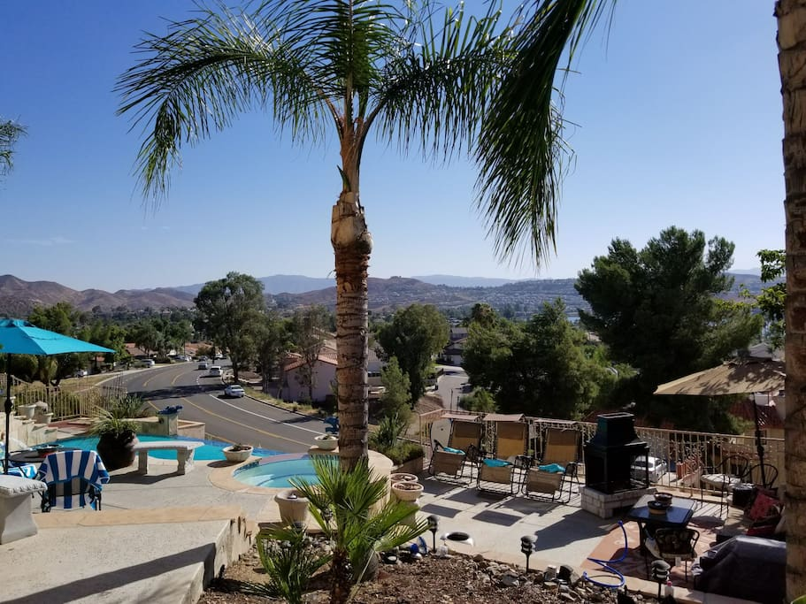 Patio, pool/spa, and community. view.