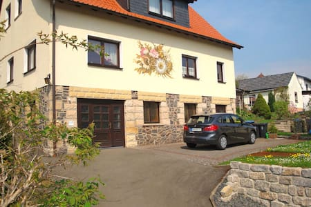Lovely holiday home in the Thuringian Forest with roof terrace and great view