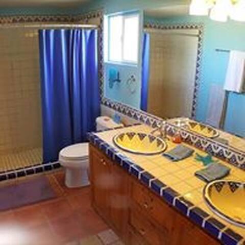 Upper master suite bathroom