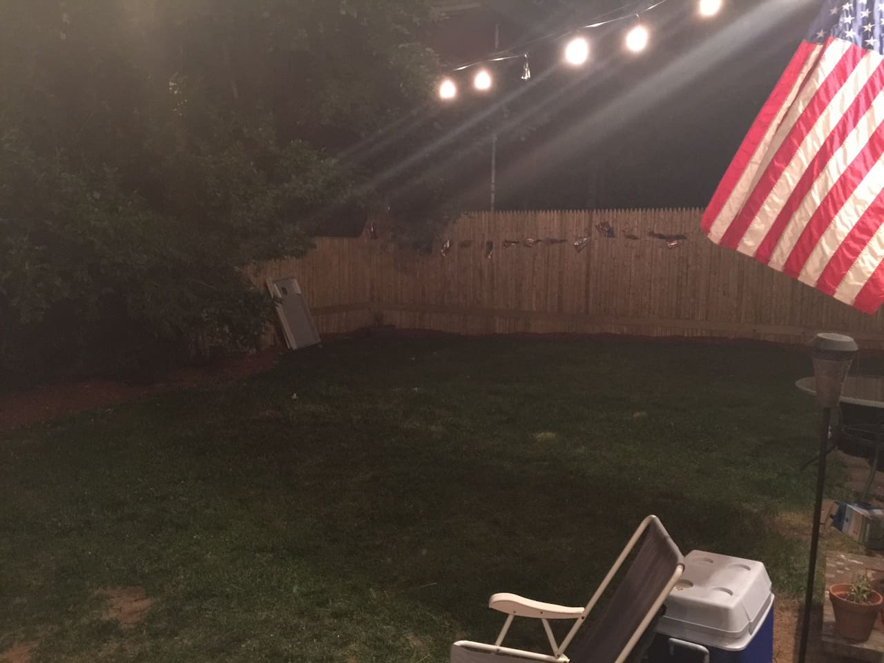 This has got to be the biggest backyard within city limits! Plenty of room to play your favorite lawn games or sit back, relax, and enjoy the hammock in the privacy of the fully fenced-in yard.