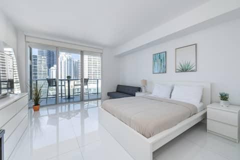 Modern Studio Apartment I Vibrating Miami Downtown