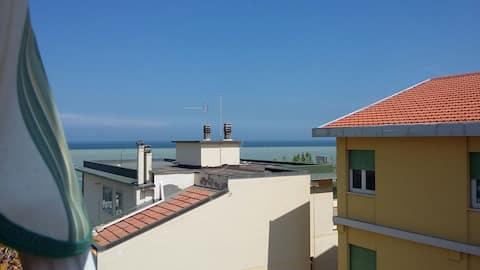 Appartamento al mare .Panorama accattivante.