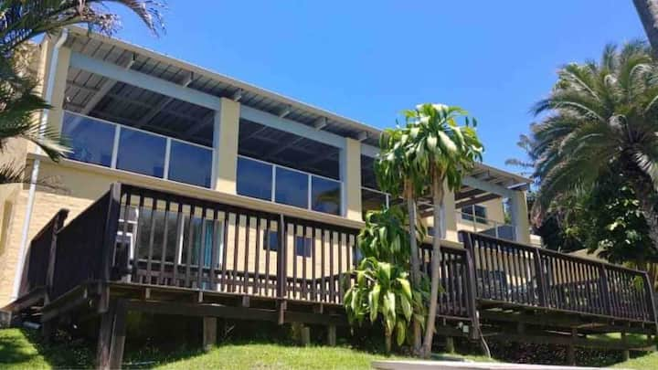 Spacious, open-plan, double story beach house