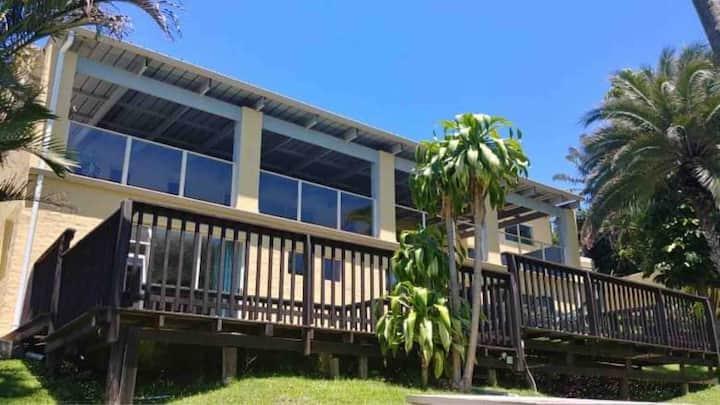Spacious, open-plan, double story beach house