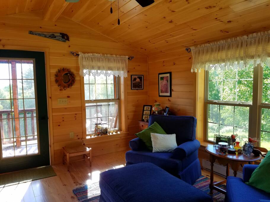 Privacy and seclusion on top of a meadow knoll