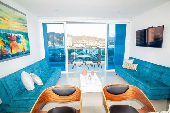 sala, balcón