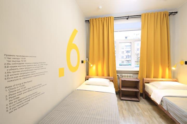 Двухместный номер с 2 кроватями. Парк Сокольники