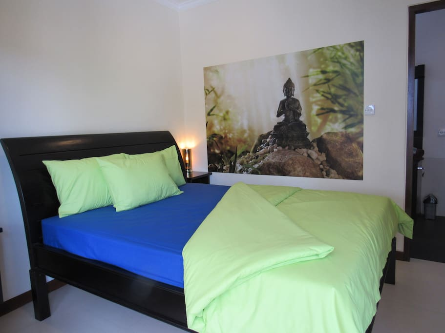 All bedrooms are modern and comfortable furnished a.o. with lovely queen size beds (160 x 200 cm)