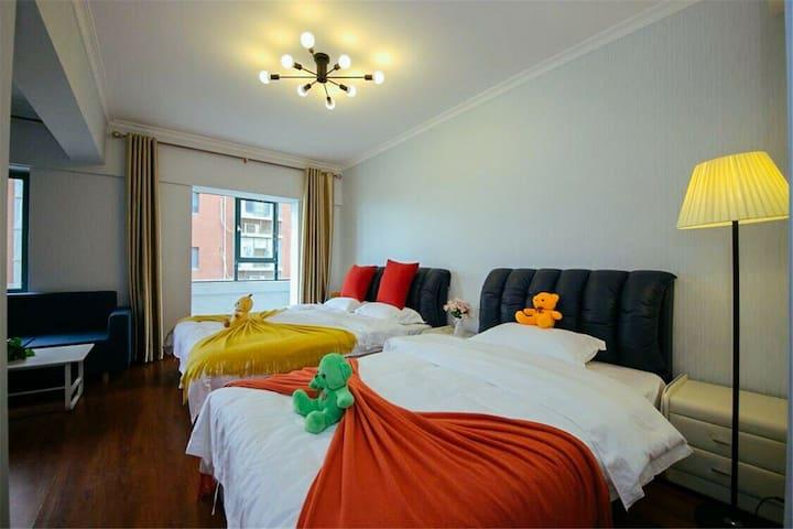 城墙边近(火车站,钟楼回民街)小清一居室亮丽柔软双床房