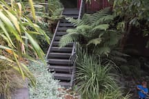 stairs to guesthouse