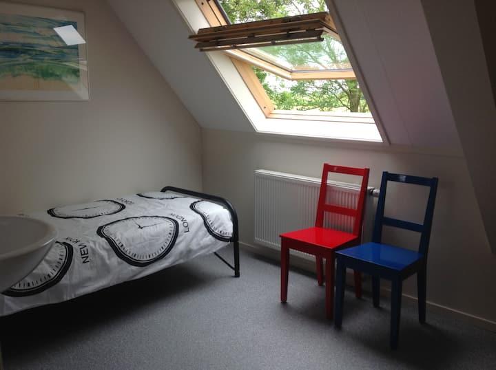 SIngle bedroom, spacious, with washbasin!