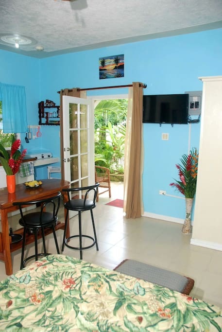 Beautiful and spacious apartment with Internet TV, Closet with Safety deposit box, Fully equipped kitchenette