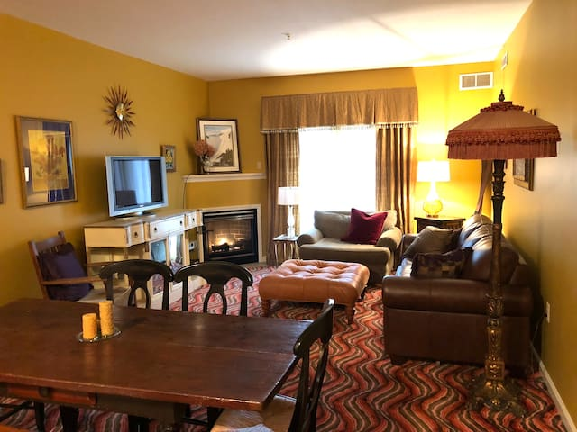 Hunter Mtn Ski In/Out Condo: Fireplace, Gym, Pool!