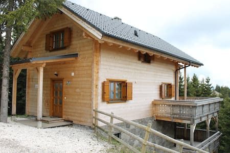 Wooden Chalet in Koralpe amid the Forest