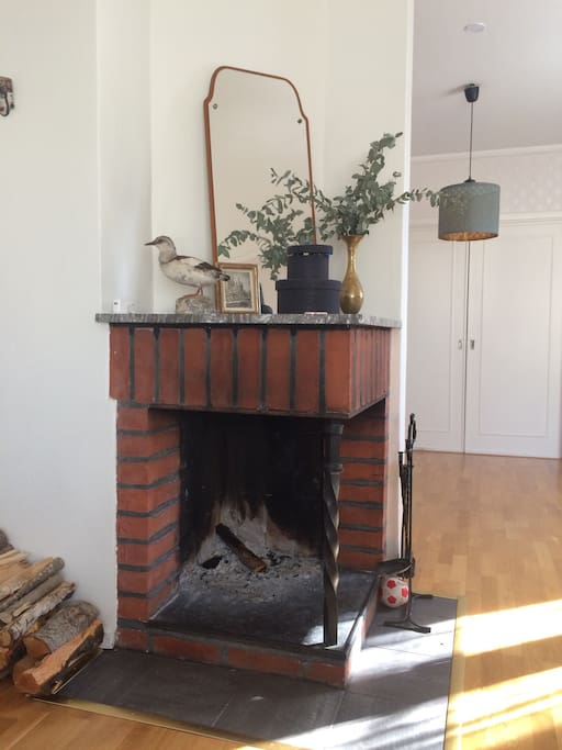 Working fireplace for extra cozy factor.
