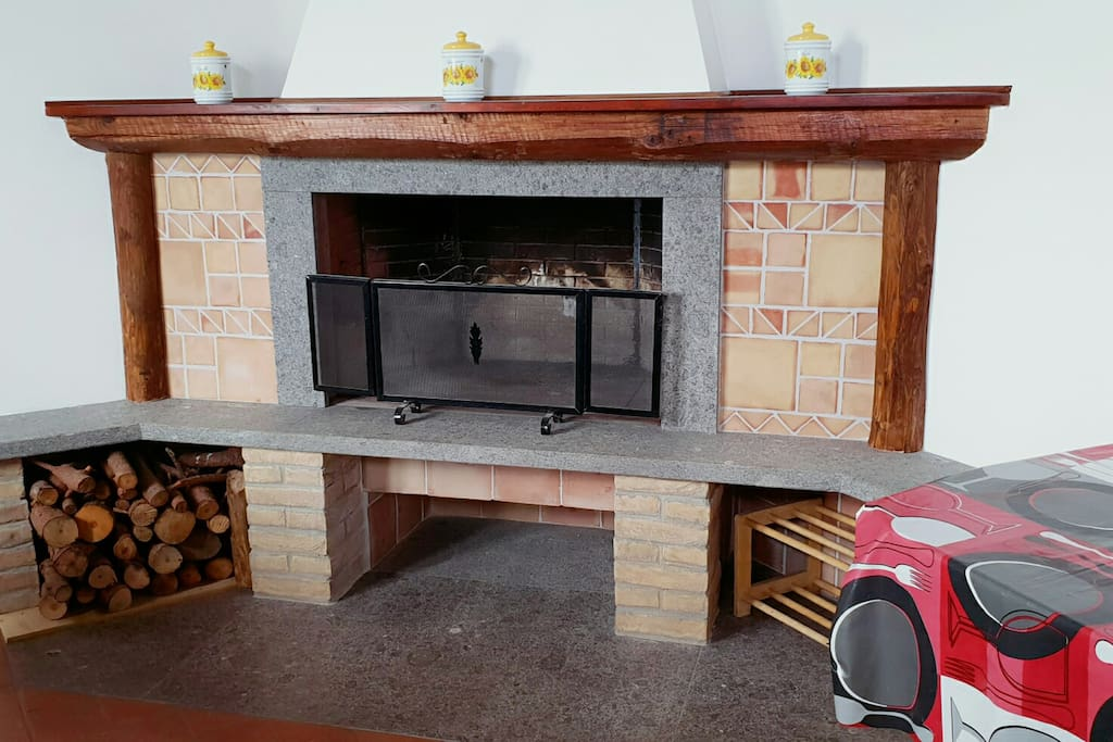 Inside the second casale, called you will find a main fireplace, which can also be used as a grill.