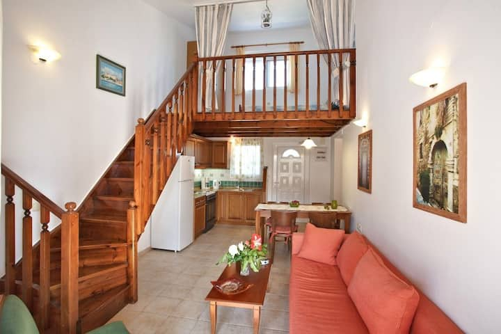 Morpheas two bedroom apt. Just 1' from the sea