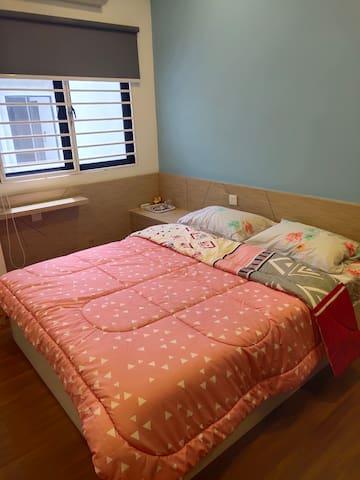客房1.5米富有梦幻的床
