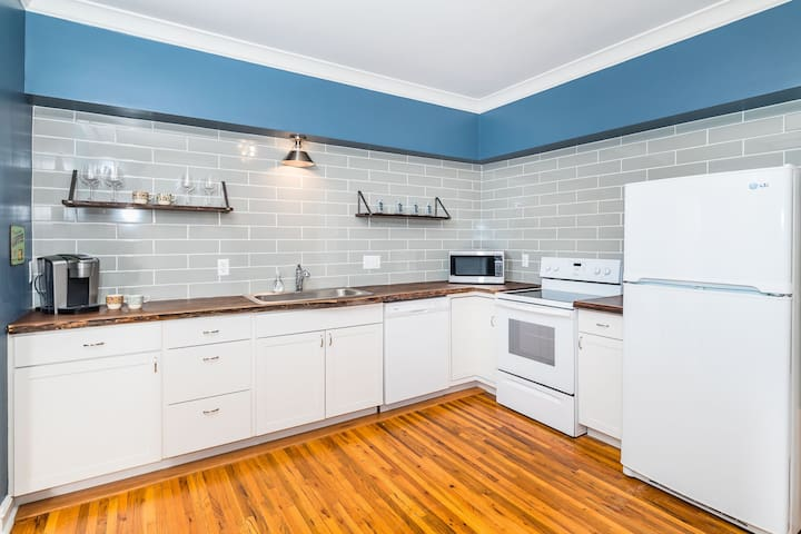 Enjoy complimentary coffee and other hot beverages in this well-equipped and newly remodeled kitchen